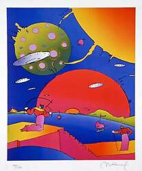 Year 2250 Ii Limited Edition Lithograph Peter Max - Signed