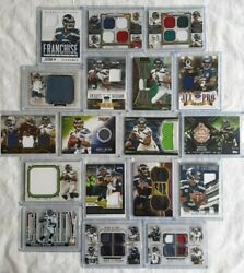 Russell Wilson 2013 And 2014 Topps And Crown Royal Relic Patch Lot