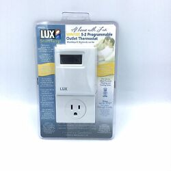 Lux Win100 Heating Cooling Programmable 15a 120v Outlet Energy Star Thermostat