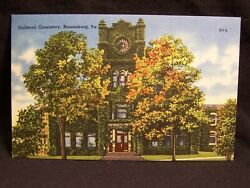 Pa Bloomberg 3 Postcards Consistory Elks Home Science Hall Linen Postcards