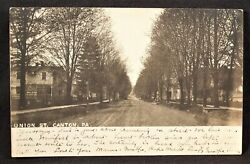 Pa Canton Union St. Bradford County 1906 Real Picture Postcard