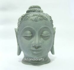 08 Inches Marble Lord Buddha Head Soap Stone Buddha Statue Gift For Buddhism