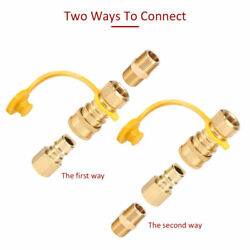 3/8-inch Solid Brass Natural Gas Quick-connect Fittings,lp Propane Hose Quick