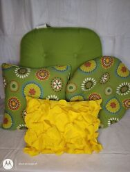 Nice Lot Of 4 Outdoor Patio Furniture Throw Pillow Chair Cushion Multicolor Used