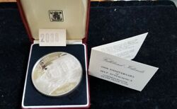 1985 Falkland Islands 25 Pounds 100 Years Self Sufficiency Sterling Silver Coin