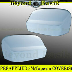 For 2016-2020 2021 Nissan Titan Mirror Covers Chrome Non Towing No Signal Hole