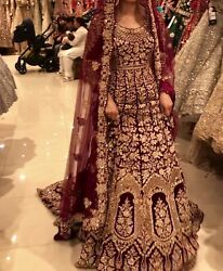 Elan Style Red/maroon Bridal Dress With Long Dupatta Brand New Not Worn