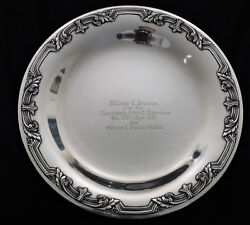 Sterling Silver Tray Towle 1937 Army Air Us Air Force 13th Squadron B-1