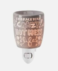 Scentsy Plug In Mini Wax Warmer Embrace Your Crazy Hot Mess Life wax bar