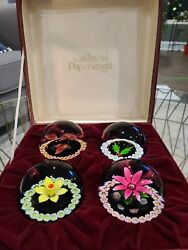 Caithness Limited Edition Four Seasons Paperweights 452/473