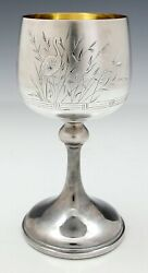 Whiting Aesthetic Sterling Goblet Japanese Engraving Cranes