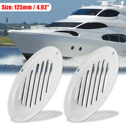 2pcs 5 Inch Round Marine Boat Louvered Ventilation Vent Venting Panel Cover