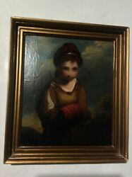Antique Oil Painting From 1800's Old Masters Demure Innocence Servant Girl