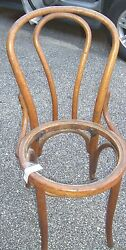 Antique Bentwood Chair Oak Thonet Style Ice Cream Parlor Chair