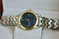 Omega Seamaster Full Size 36mm Blue Dial 120m 18kt Solid Gold And Steel Automatic
