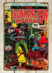 dorm room buy posters 1973 Monster Frankenstein Marvel comics metal tin sign