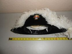 Vintage Knights Of Columbus White Ostrich Plume Feather Hat 4th Degree Symbol