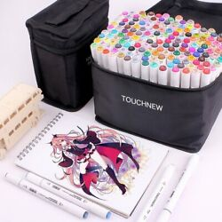 Touchnew T8 Sketching Markers Drawing Pen Set With Dual Tip Brush Pens For Manga