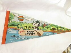 Vintage Camp Snoopy Knott's Pennant Flag 1958 Schulz Peanuts Collecters