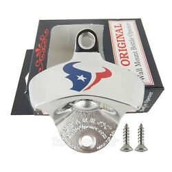 Houston Texans Beer Bottle Opener Polished Stainless Steel Wall Mount Starr X