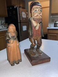 Vintage 1900's Hand Carved And Hand Painted Wooden Nutcracker Germany Very Rare
