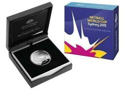 34566 2015 5 Fine Silver Proof Domed Coin Netball World Cup Collecting Ram