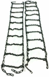 Skid Steer Uni-loader Snow Tire Chains Squared Link Alloy Hardened 10-16.5