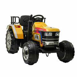 12v Kids Ride On Tractor With Remote Control Electric Battery Powered Car Gift
