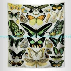 Adoplhe Millot papillons wall tapestry window curtain decoration