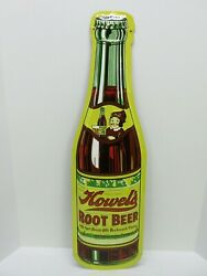 Howel's Root Beer Large 29 Embossed Metal Soda Bottle Sign - Aaa Sign Co. Usa