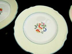 6-dinner Plates--j And G Meakin-leaves And Fruit-yellow-green-blue-sol-391413-