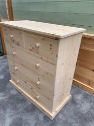 Solid Pine Chest Drawers In Various Sizes Tandg Bases Natural Clear Oil Finish
