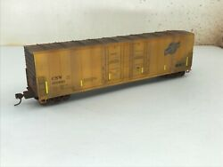 Ho Atlas 50ft Evans Double Plug Door Boxcar Candnw Cnw 600610 Weathered