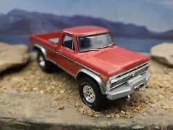 Custom Made 1974 Ford F350 Truck 164 Scale 4x4 Hitch And Tow Greenlight Tool Box