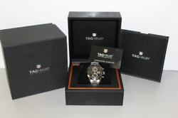 Tag Heuer Cv2010.ba0786 Carrera Automatic Chronograph Menand039s Wristwatch - Silver