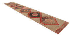 3x19 Ft Runner Hand Knotted Extra Long Runner Rug Low Pile Actual 3.1 X 19 Ft