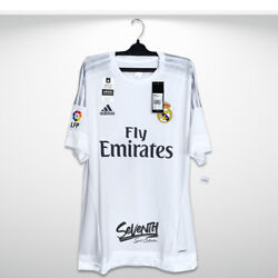 Bnwt Real Madrid 2015 2016 Player Issue Shirt Official Adizero Jersey L