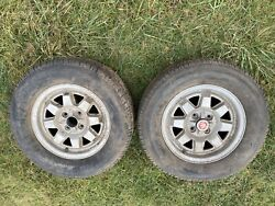 Vintage Fiat Wheels With Tires