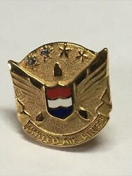 2 Diamonds United Airlines Employee Service Pin Ual Aviation