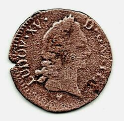 1771 - 1/2 Sol Coin Of Louis Xv