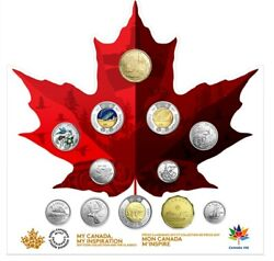2017 Canada 150th Anniversary 12-coin Set - In Maple Leaf Collection Package