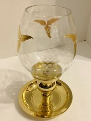 Vintage Flawless Partylite Globe And Brass Stand -brand New In Original Boxes Htf