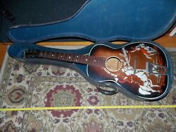 Vintage Antique The Lone Ranger Guitar With Case