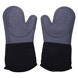 10xnon-slip Silicone Gloves Microwave Oven Anti-scald Thermal Insulation Gloves