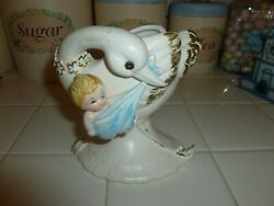 Adorable Vintage Lefton Swan With Baby Planter Made In Japan