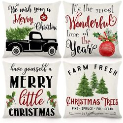 20xchristmas Throw Pillow Covers Christmas Decorations Rustic Farmhouse
