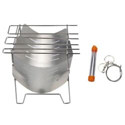 20xstainless Steel Bbq Stove Camping Stove Folding Charcoal Barbecue Portable