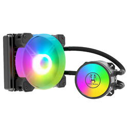 10xcoolmoon 120mm Rgb Led Fan 4 Pin Pwm Cpu Water Cooling Radiator Suitable