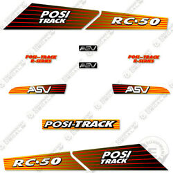 Asv Rc-50 Decal Kit Skid Steer Replacement Stickers Equipment Decals Rc 50
