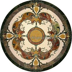 Dining Table Top Pietra Dura Art Marble Coffee Table Elegant Look For Handicraft